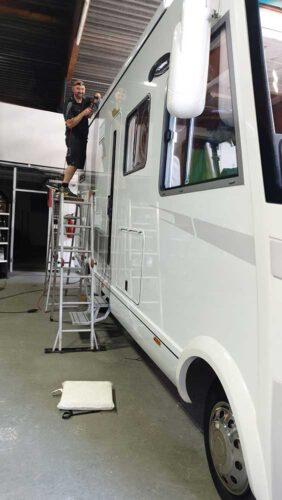 Wohnwagen-Aufbereitung